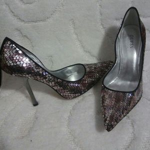 Guess Sequin Heels size 8.5